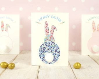 Easter cards etsy uk pom pom easter bunny card 3d easter card easter wishes greetings card liberty negle Gallery