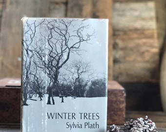 Vintage Sylvia Plath Winter Trees, hardcover with dust jacket, poetry, poems, classic