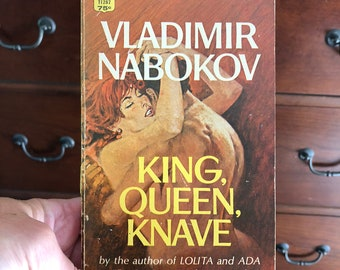 Vintage book Nabokov Vladimir King, Queen, Knave by the author of Lolita, paperback, vintage Russian literature, love