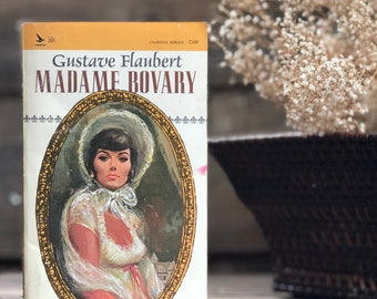 Vintage Madame Bovary by Gustave Flaubert, classic, paperback, amazing vintage cover image