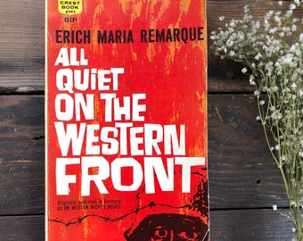 Vintage book classics, All Quiet on the Western Front by Erich Maria Remarque, literature, war