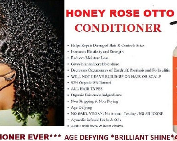 CONDITIONER Honey Rose OTTO  8 oz| Anti Aging Hair | Brilliant SHINE| Organic Conditioner| Root Stimulation| Salon Strength