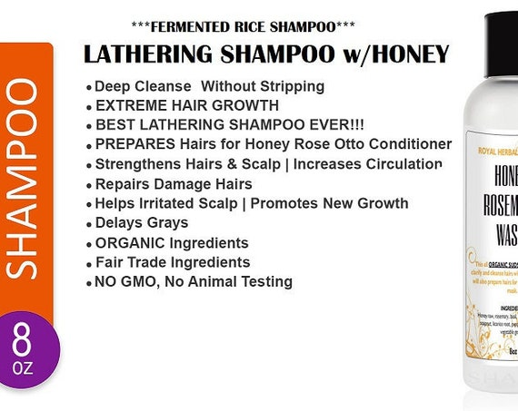 LATHERING Fermented Hair Wash with Honey
