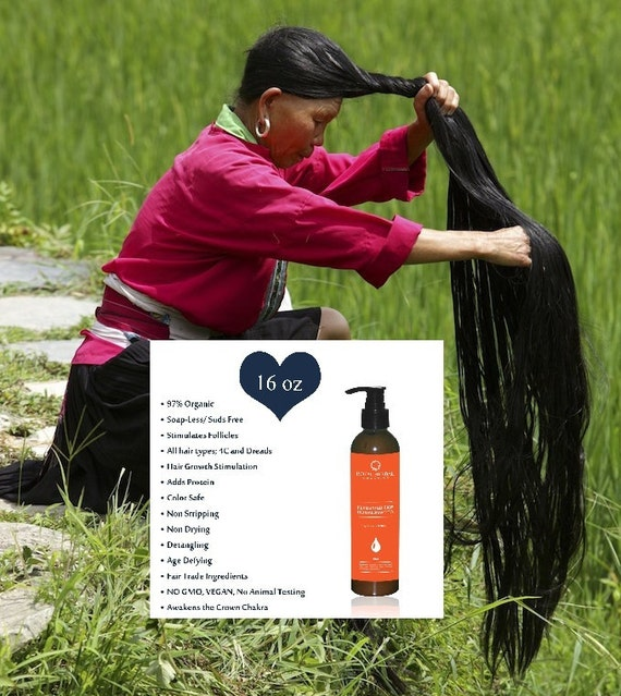 Hair Growth Solution Co-Wash, SHAMPOO & Scalp Renewal Detox 16oz, All Hair Types, Delays Grays, Grow back Edges, Fermented Rice Herbal Wash