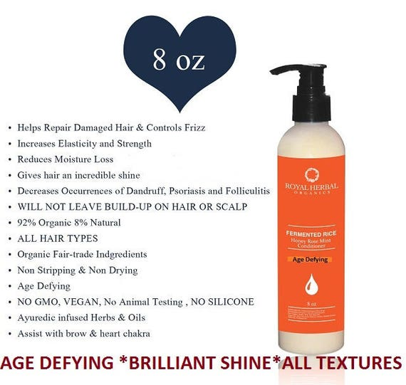AUTHENTIC Honey Rose OTTO Mint Conditioner 8 oz| Anti Aging Hair | Brilliant SHINE| Organic Conditioner| Root Stimulation| Salon Strenght