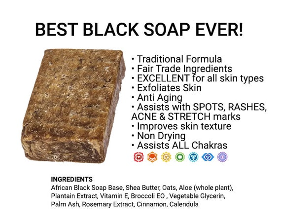 BEST Black Soap Ever  | Skin Problem Solver  Soap |Traditional Ingredients | ORGANIC Soap | Spot and Acne Remover!!!