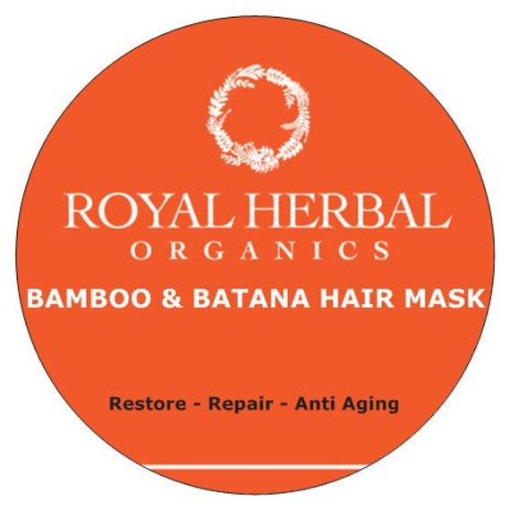 Bamboo & BATANA Intense Repair Mask 4oz | Intense Organic Repair| Anti Aging, Age Defying | Revitalizing Conditioner |  Deep Conditioner
