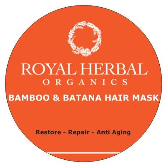Bamboo & BATANA Intense Repair Mask 4oz | Intense Organic Repair| Anti Aging, Age Defying | Revitalizing Conditioner |  Deep Conditioner