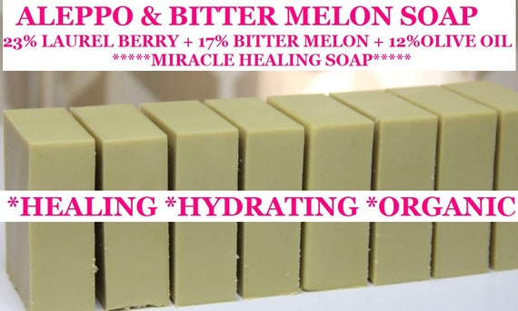 Aleppo & Bitter Melon Soap  | Skin Problem Solver  Soap | Laurel Berry Soap | ORGANIC Soap | Hydration Hero |Skin Problem Solver!!!