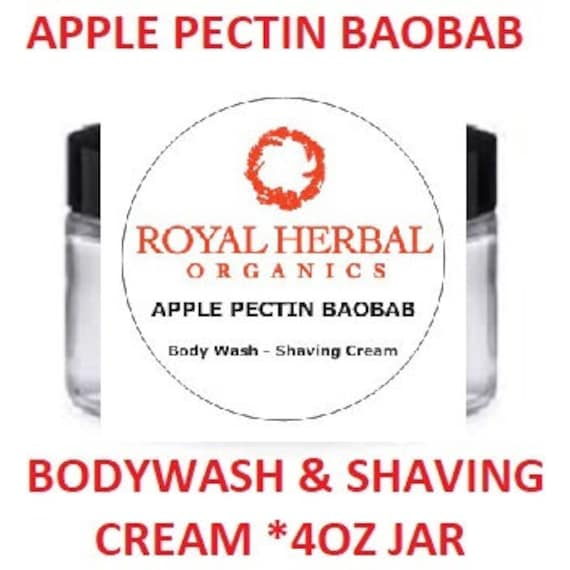 Apple Pectin Baobab Bodywash & Shaving Cream |Limited Edition | Concentrated Formula | Very Moisturizing Body Wash | Gentle Shaving Cream