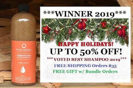 50% OFF Fermented Rice Herbal Co-Wash, Shampoo & Scalp Renewal Detox 16oz, No Sud Shampoo, Organic Water Wash Shampoo, Age Defying Hair Wash