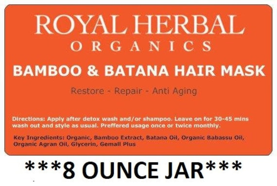Bamboo & BATANA Intense Repair Mask 8oz | Intense Organic Repair| MIRACLE Restore in a Jar |  | Revitalizing Conditioner | Deep Conditioner