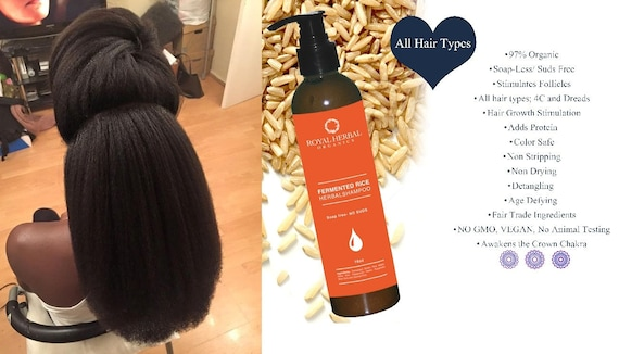 FERMENTED RICE Hair Growth Solution Co-Wash | Shampoo | Scalp Renewal Detox 16oz| ALL Textures| Grow back Edges| Excellent for 4C Type Hair