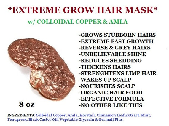 EXTREME GROW Hair Mask | Fast Growing Hairs | Colloidal Copper Hair Mask | Reverse Grays Hair Mask | Organic Hair Mask