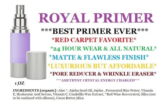 Primer ALL NATURAL 24 Hour Wear 1oz | Mineral Infuse Primer | Anti Aging & Pore Reducing | Matte Finish | Wrinkle Reducing