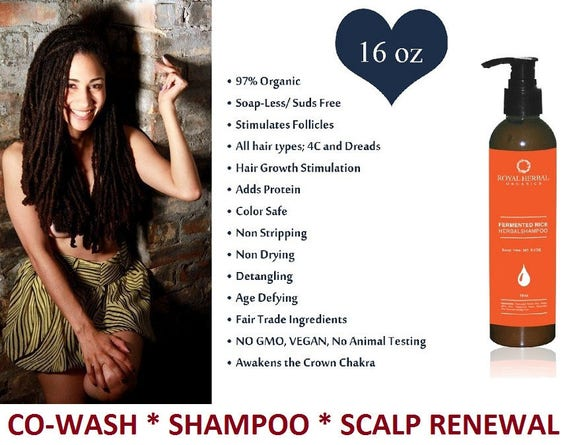 DETOX  for hair Co-Wash* SHAMPOO * Scalp Renewal Detox 16oz, All Hair Types, Dreads, Braids, 4c, KinkyCurly, Fermented Rice Herbal Wash