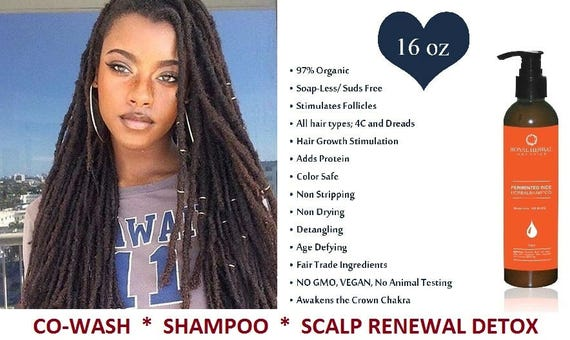 DETOX for Hair & Scalp, Renewal Detox 16oz, No Suds Pre-Poo, Organic Water Wash Shampoo, Age Defying Hair  Co- Wash