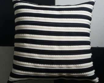 Striped Pillow Black and wight Made in Italy