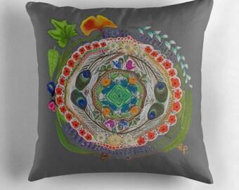 The Circular Garden - my original art digitally printed onto cushions