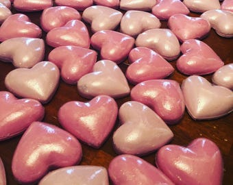 Heart bath bombs set/ Valentine's Day/ gifts for her/ gifts/ dollar bath bombs/ hearts/ bath bombs/ natural bath bombs/ organic bath bombs