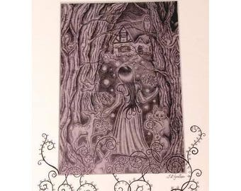 Snow White - Lost in the Woods Print