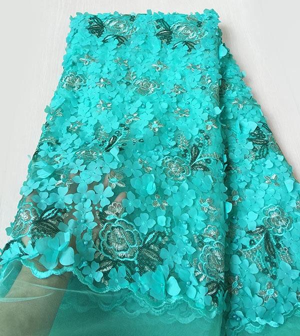 Bleu marine or or or Allover Appliques perles dentelle français couture africaine tulle dentelle classique et unique choix judicieux 218ead