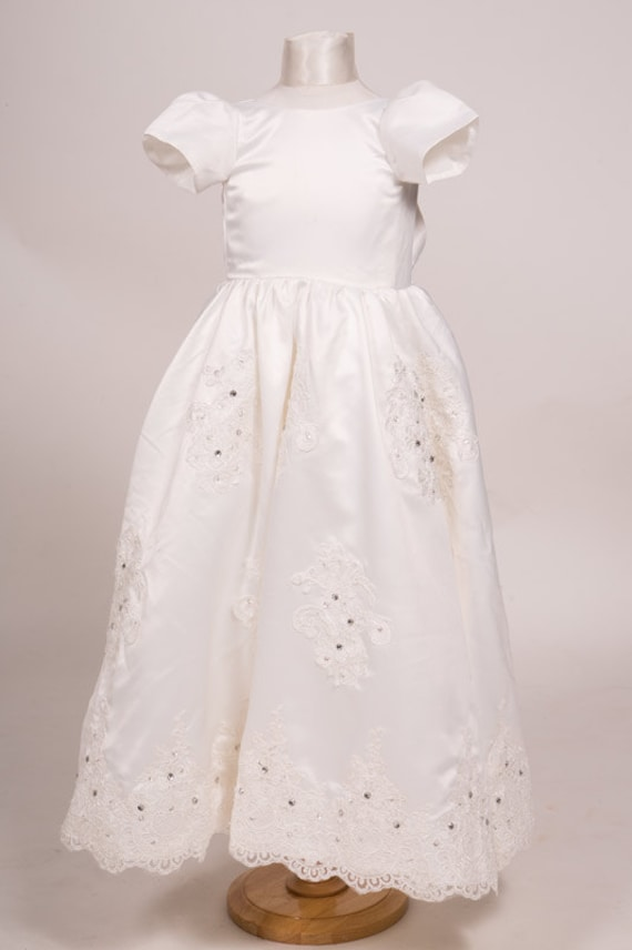 e56124ce1 Vintage inspired Style Ivory or White Stunning Baby dress