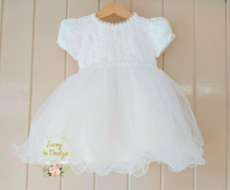 Candy Baby Lovely Lace Girls Christening Gowns Dresses