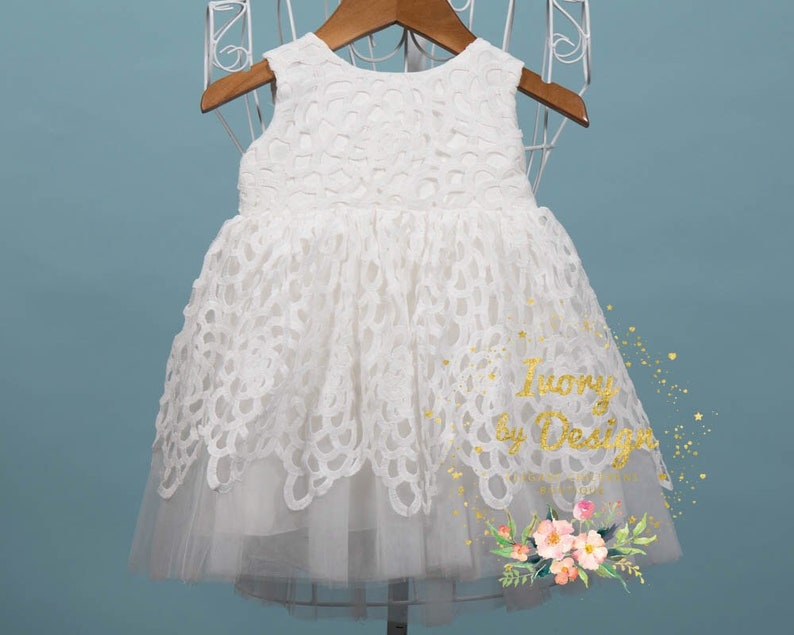 b530c26aa1 Beautiful Baby girls Baptism dress baby Flower Girl dress soft | Etsy