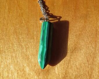 Green Malachite pointed Pendant