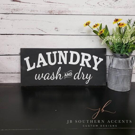 Laundry Room Decor Laundry Signs Modern Farmhouse Decor Etsy