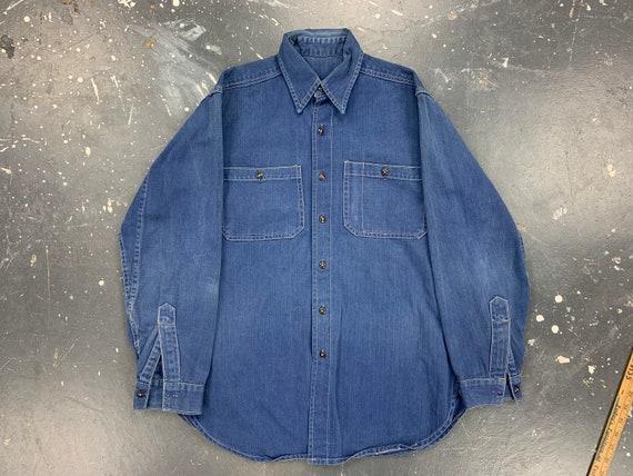 Merit Furniture Company Uniform Shirt Vintage Amer