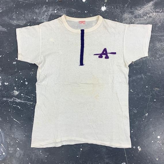 Amherst Rowing Crew T Shirt 40s Collegiate Varsity