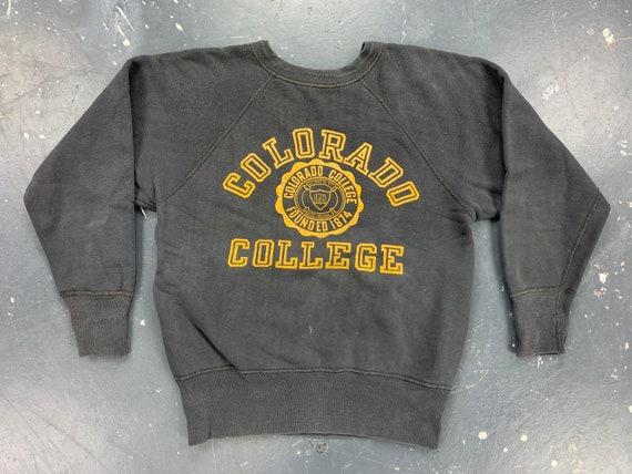 Colorado College Sweatshirt 50s 60s USA Vintage Ch
