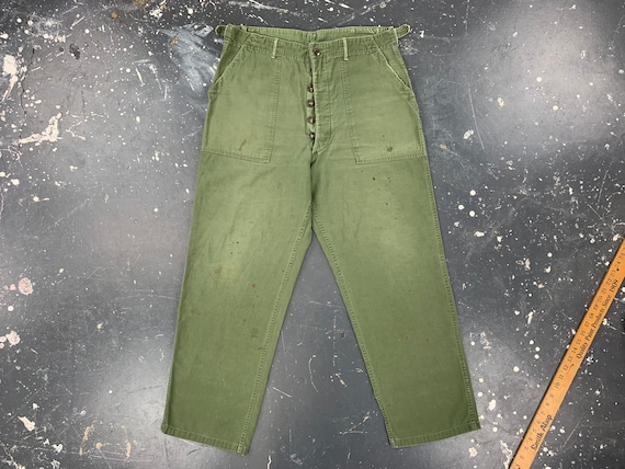 34x30 OG107 Utility Trousers 40s USA Vintage