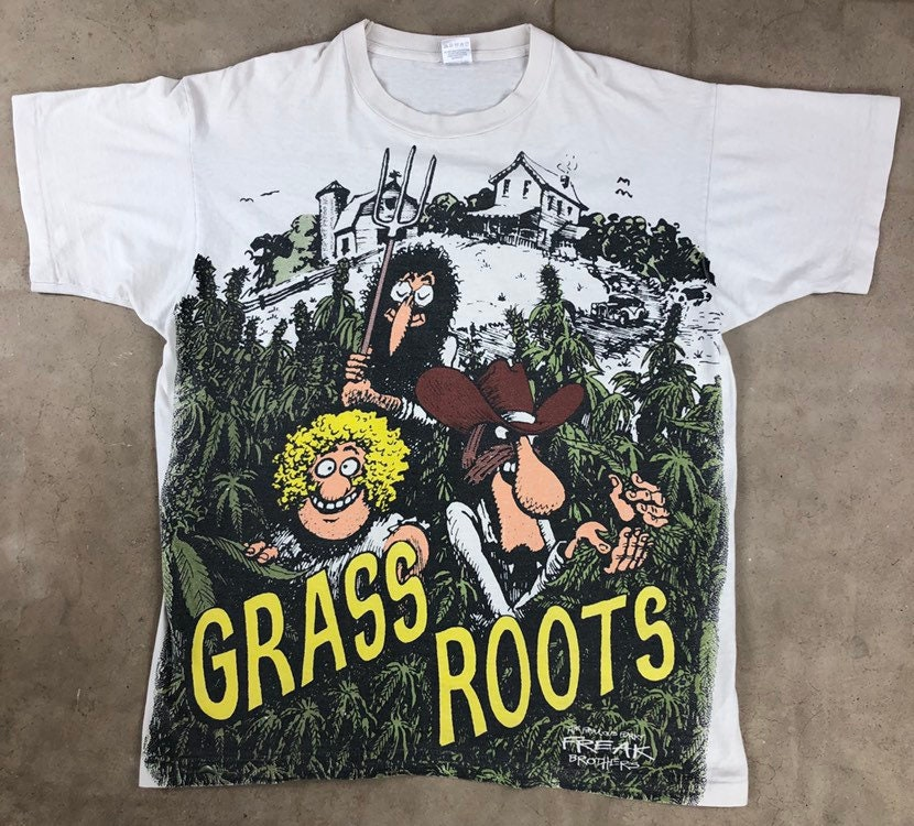 90 s XL fabulous furry freak brothers grass roots t shirt shirt t 4c465a