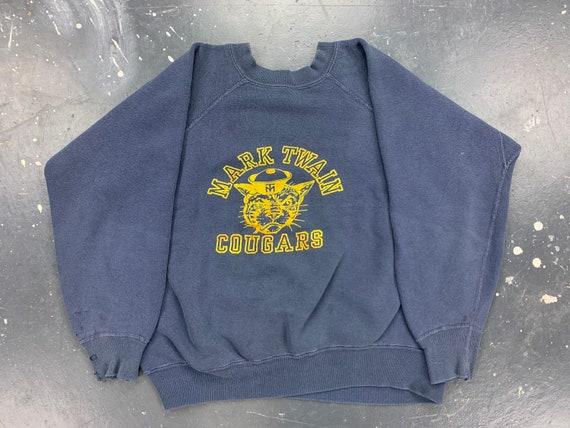 Mark Twain Cougars Sweatshirt 60s USA Vintage