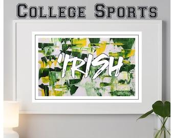 Notre Dame Fighting Irish abstract print