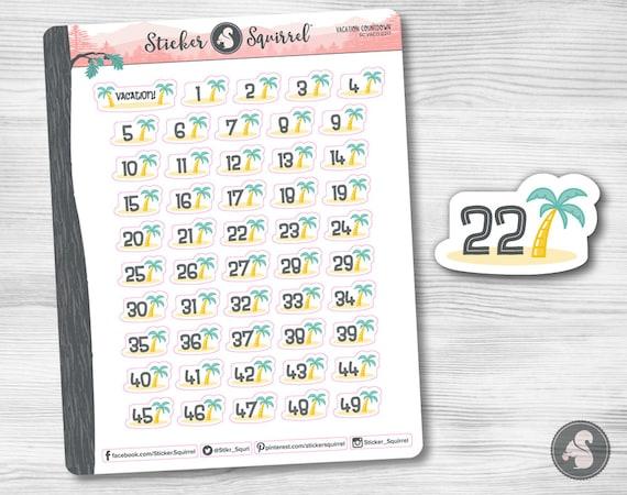 erin condren monthly planner weekly planner journal calendar days until vacay SC.ARCT.0317 Airplane Vacation Countdown Planner Stickers