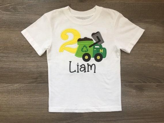 Trash Truck Birthday Shirt For Boys Girls Ages 1 6 Years