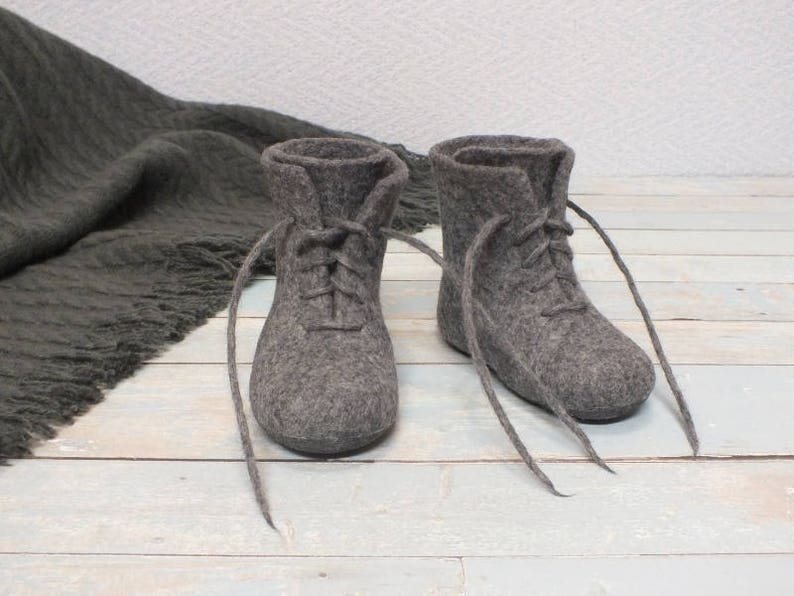 c31c059f70c89 Felt boots for baby Newborn woolen shoes Felted crib shoes Babies warm  booties First gift grandchild Boys baby winter shoes Lithuania felt