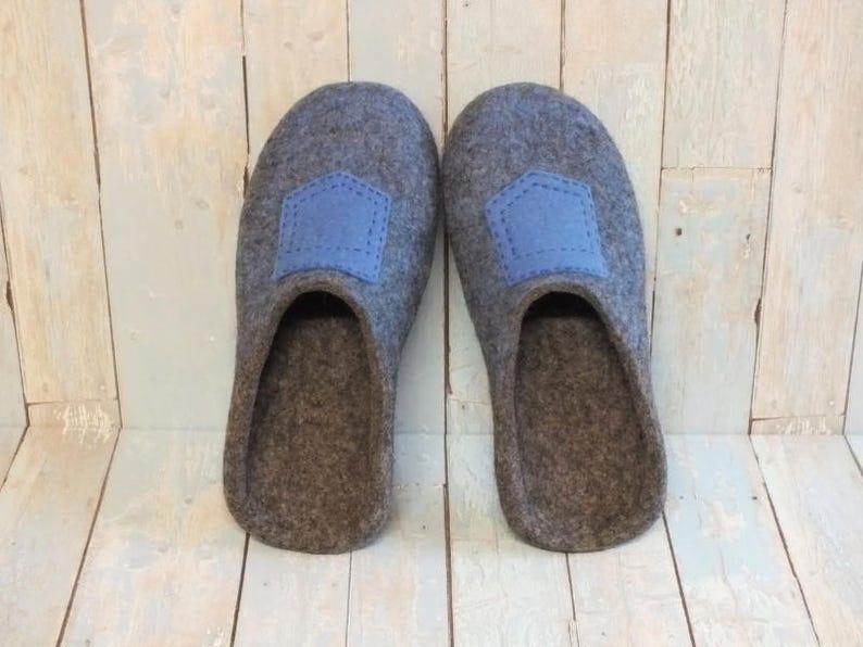 74fd49d8813dc4 Pantofole di lana per idea regalo uomo per marito bollito lana