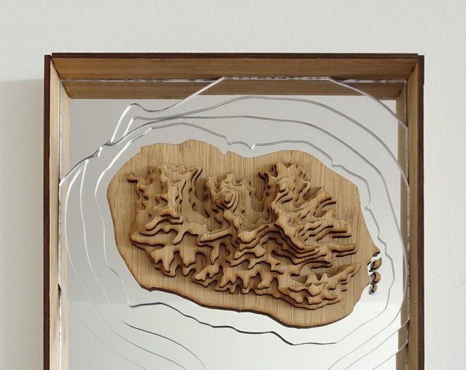 Rarotonga Map, Cook Islands - 3D Wall Art