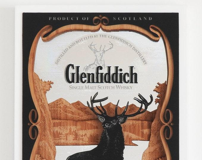 3D Glenfiddich Bar Mirror, Laser Cut