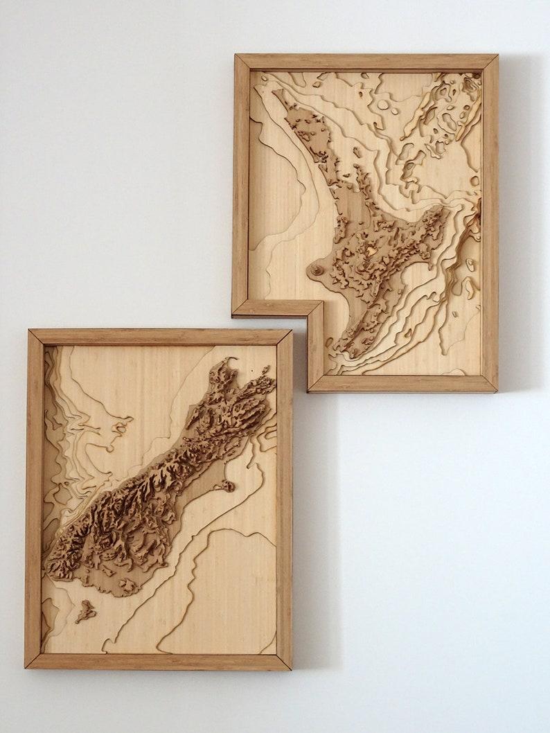3d Map Of New Zealand.New Zealand Map 3d Wall Art