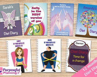 Diet Diary   Food Diary   Diet Journal   Diet Planner   Slimming World Diary   Slimming Journal   Weight Loss Planner   A5 Diet Diary