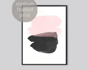 Pink abstract wall art, Abstract art print, pink black abstract art, abstract prints, abstract artwork, abstract painting, Medium Framed