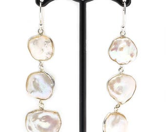 Mother of Pearl Earring in Sterling Silver .925