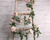 Balloon Tail, Light Pink Rose Garland, Artificial Garland tail, Wedding Decor, Balloon Banner, Flowers, Botanical Wedding, Vine Garland