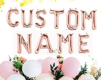 "Rose Gold Balloon, Custom Name, Custom, 16"" Rose Gold Letter & Number balloons, Balloons Garland, Rose Gold, Birthday Balloons"